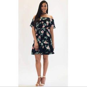 Floral Cut-Out Dress